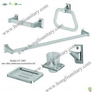 Cheap Bathroom Accessories Kit AT-1002 Zinc alloy bathroom accessories 6pcs for sale