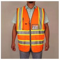 Best High Visibility Reflective Safety Vest With Pockets And Zipper wholesale