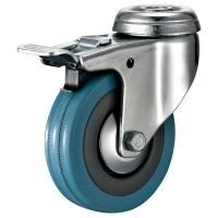 Best Light Duty Swivel Caster With Brake Rubber Wheel Hollow Kinping wholesale