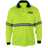 China high visibility safety workwear long sleeve moisture wicking construction polo shirt on sale