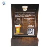 Best Table Top Menu Sign Holder With Wood Base wholesale