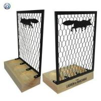 China Countertop Wooden Base Sign Holder on sale