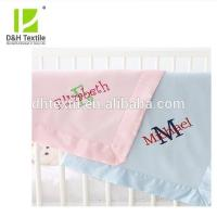 China Machine Washed Super Soft Embroidery Baby Blanket on sale